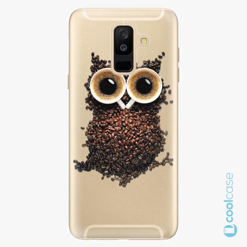 Plastové pouzdro iSaprio Fresh - Owl And Coffee na mobil Samsung Galaxy A6 Plus