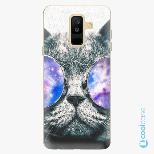 Plastové pouzdro iSaprio Fresh - Galaxy Cat na mobil Samsung Galaxy A6 Plus