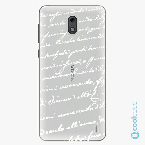 Plastové pouzdro iSaprio Fresh - Handwriting 01 white na mobil Nokia 2