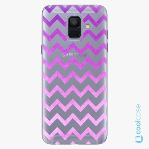 Plastové pouzdro iSaprio Fresh - Zigzag purple na mobil Samsung Galaxy A6