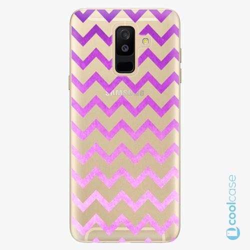 Plastové pouzdro iSaprio Fresh - Zigzag purple na mobil Samsung Galaxy A6 Plus