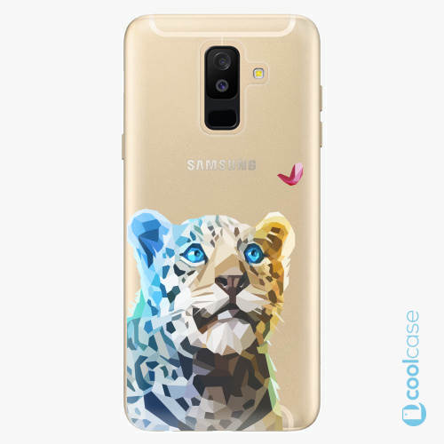 Plastové pouzdro iSaprio Fresh - Leopard With Butterfly na mobil Samsung Galaxy A6 Plus