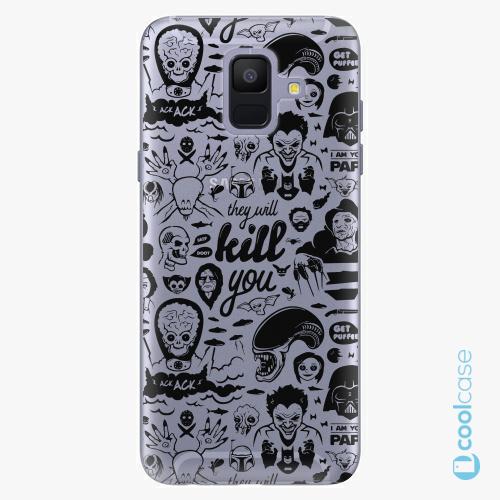 Plastové pouzdro iSaprio Fresh - Comics 01 black na mobil Samsung Galaxy A6