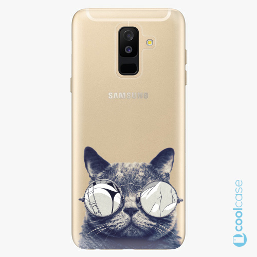Plastové pouzdro iSaprio Fresh - Crazy Cat 01 na mobil Samsung Galaxy A6 Plus