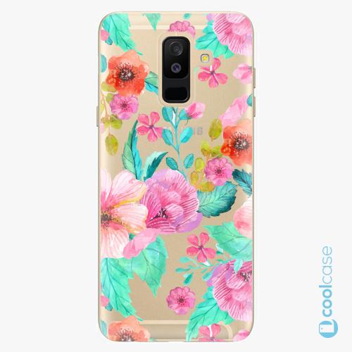 Plastové pouzdro iSaprio Fresh - Flower Pattern 01 na mobil Samsung Galaxy A6 Plus