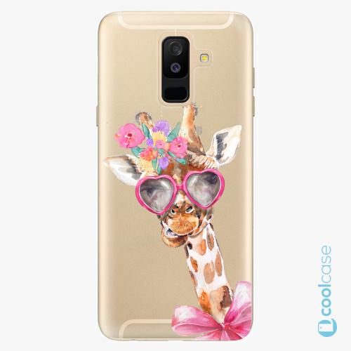 Plastové pouzdro iSaprio Fresh - Lady Giraffe na mobil Samsung Galaxy A6 Plus