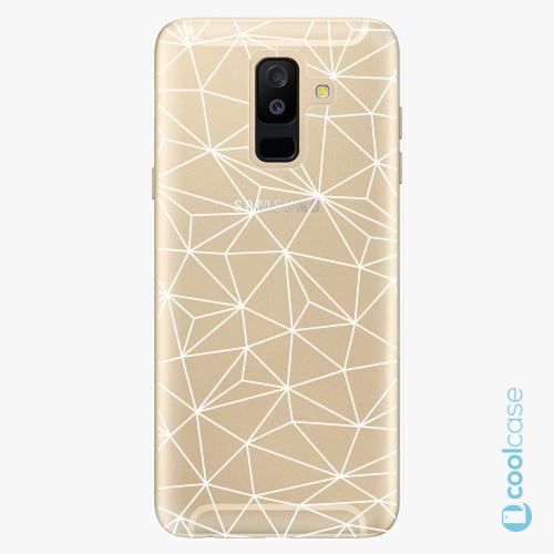 Plastové pouzdro iSaprio Fresh - Abstract Triangles 03  white na mobil Samsung Galaxy A6 Plus