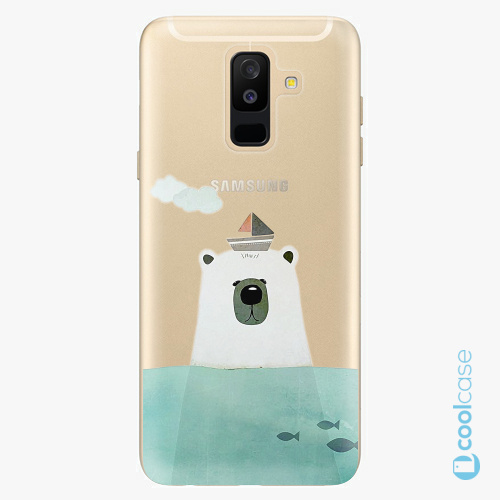 Plastové pouzdro iSaprio Fresh - Bear With Boat na mobil Samsung Galaxy A6 Plus