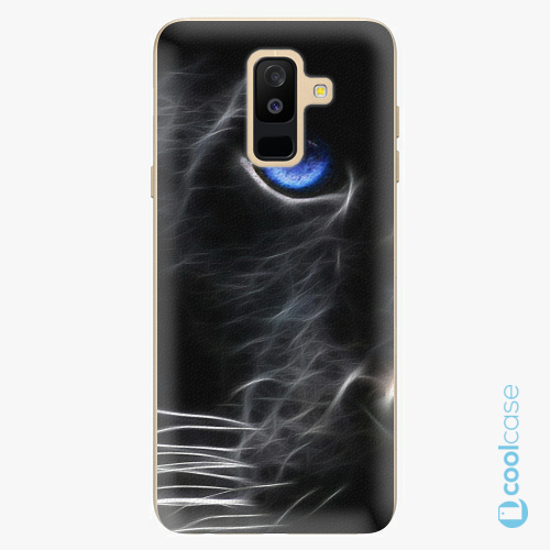 Plastové pouzdro iSaprio Fresh - black Puma na mobil Samsung Galaxy A6 Plus