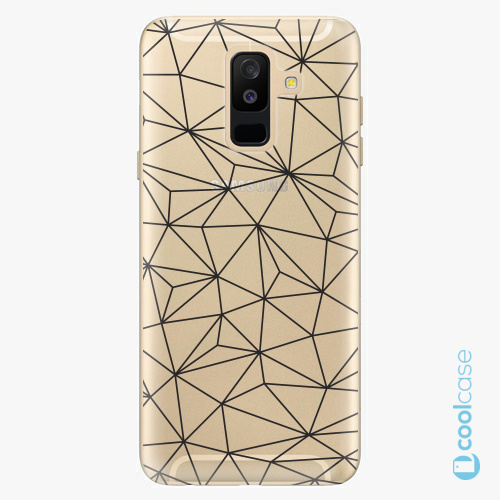 Plastové pouzdro iSaprio Fresh - Abstract Triangles 03  black na mobil Samsung Galaxy A6 Plus