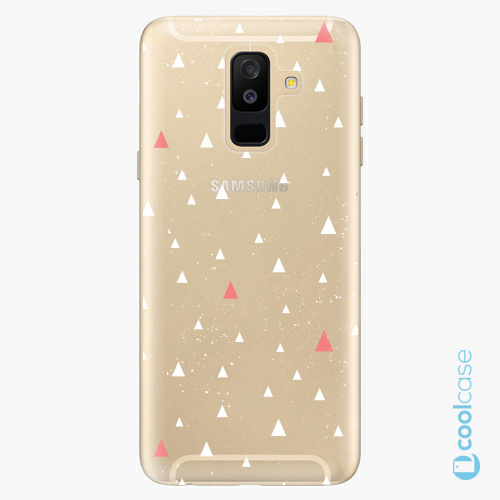 Plastové pouzdro iSaprio Fresh - Abstract Triangles 02 white na mobil Samsung Galaxy A6 Plus