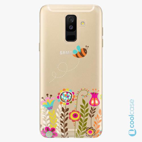 Plastové pouzdro iSaprio Fresh - Bee 01 na mobil Samsung Galaxy A6 Plus