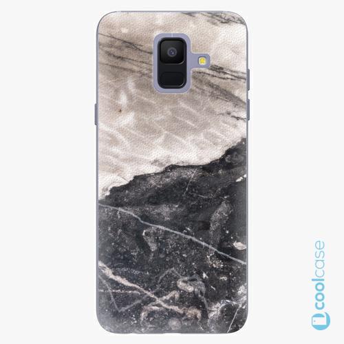 Plastové pouzdro iSaprio Fresh - BW Marble na mobil Samsung Galaxy A6