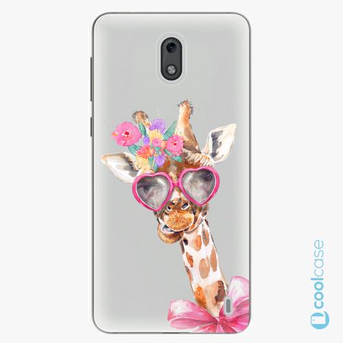 Plastové pouzdro iSaprio Fresh - Lady Giraffe na mobil Nokia 2