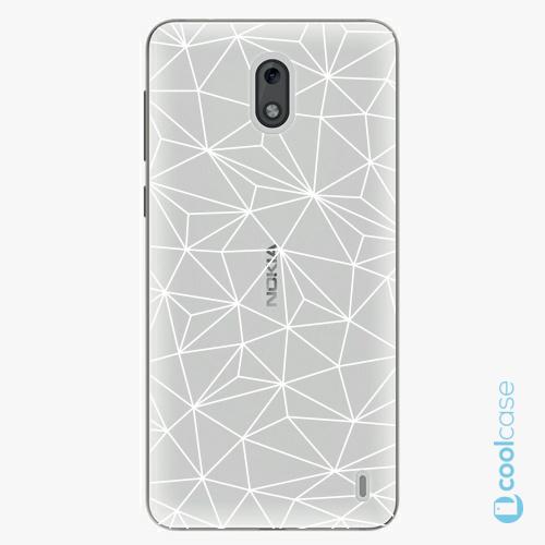 Plastové pouzdro iSaprio Fresh - Abstract Triangles 03  white na mobil Nokia 2