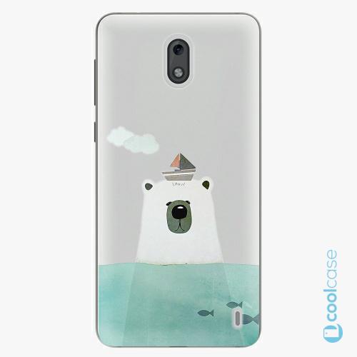 Plastové pouzdro iSaprio Fresh - Bear With Boat na mobil Nokia 2