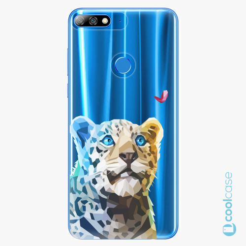 Plastové pouzdro iSaprio Fresh - Leopard With Butterfly na mobil Huawei Y7 Prime (2018)