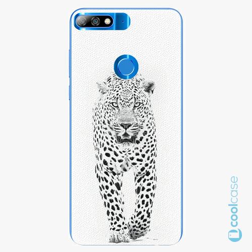 Plastové pouzdro iSaprio Fresh - white Jaguar na mobil Huawei Y7 Prime (2018)