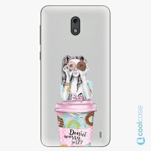 Plastové pouzdro iSaprio Fresh - Donut Worry na mobil Nokia 2
