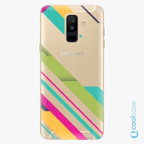 Plastové pouzdro iSaprio Fresh - Color Stripes 03 na mobil Samsung Galaxy A6 Plus