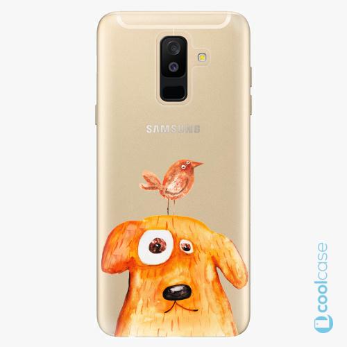 Plastové pouzdro iSaprio Fresh - Dog And Bird na mobil Samsung Galaxy A6 Plus