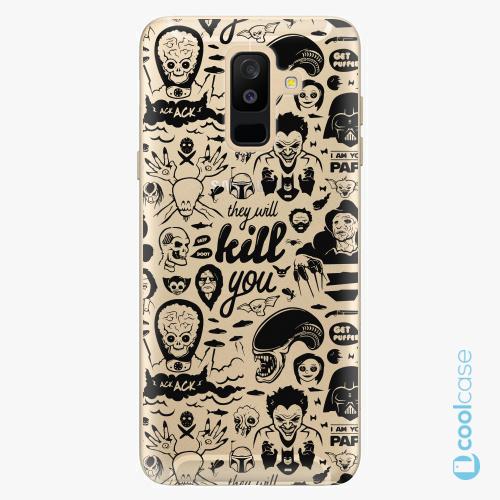 Plastové pouzdro iSaprio Fresh - Comics 01 black na mobil Samsung Galaxy A6 Plus