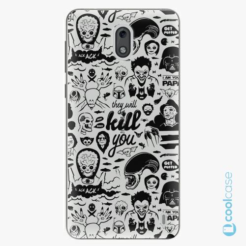 Plastové pouzdro iSaprio Fresh - Comics 01 black na mobil Nokia 2
