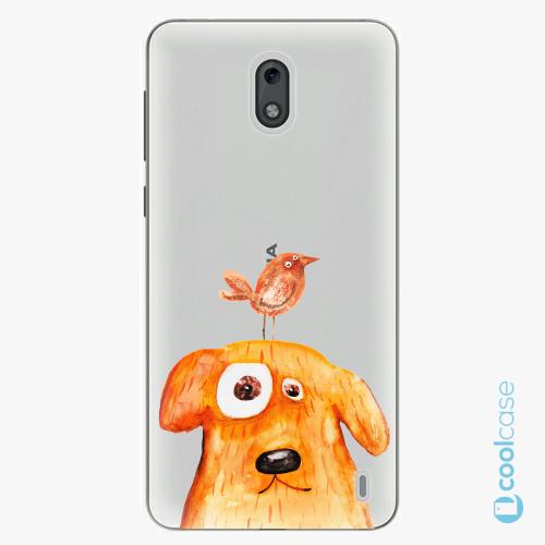 Plastové pouzdro iSaprio Fresh - Dog And Bird na mobil Nokia 2