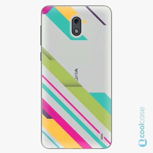 Plastové pouzdro iSaprio Fresh - Color Stripes 03 na mobil Nokia 2