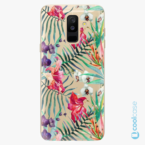 Plastové pouzdro iSaprio Fresh - Flower Pattern 03 na mobil Samsung Galaxy A6 Plus