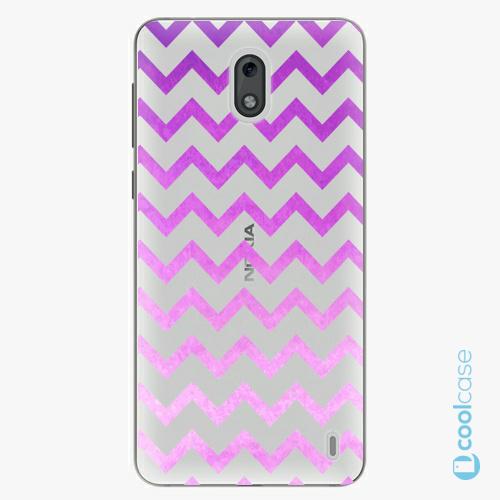 Plastové pouzdro iSaprio Fresh - Zigzag purple na mobil Nokia 2