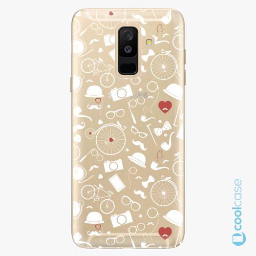 Plastové pouzdro iSaprio Fresh - Vintage Pattern 01 white na mobil Samsung Galaxy A6 Plus
