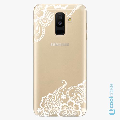 Plastové pouzdro iSaprio Fresh - white Lace 02 na mobil Samsung Galaxy A6 Plus