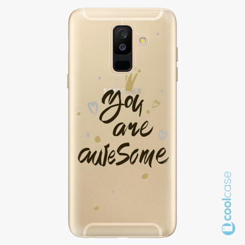 Plastové pouzdro iSaprio Fresh - You Are Awesome black na mobil Samsung Galaxy A6 Plus