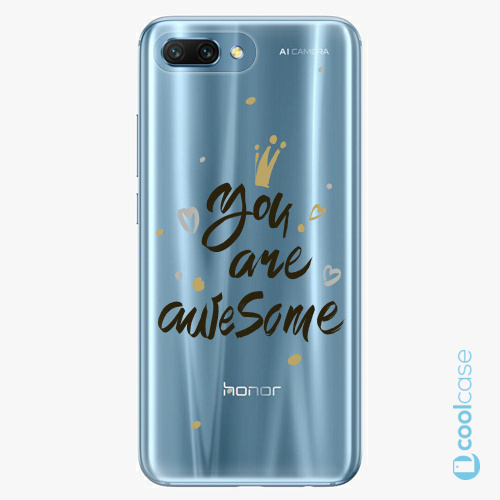 Plastové pouzdro iSaprio Fresh - You Are Awesome black na mobil Honor 10