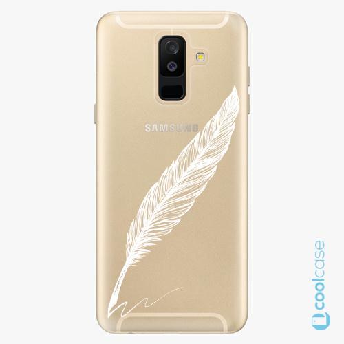 Plastové pouzdro iSaprio Fresh - Writing By Feather white na mobil Samsung Galaxy A6 Plus