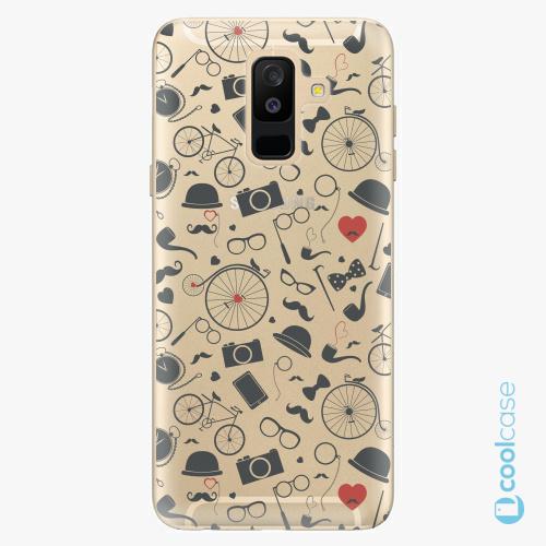 Plastové pouzdro iSaprio Fresh - Vintage Pattern 01 black na mobil Samsung Galaxy A6 Plus