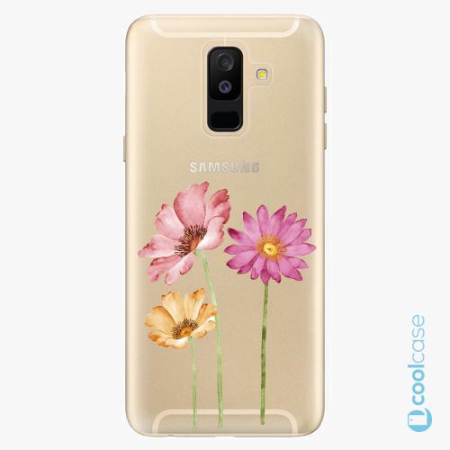 Plastové pouzdro iSaprio Fresh - Three Flowers na mobil Samsung Galaxy A6 Plus