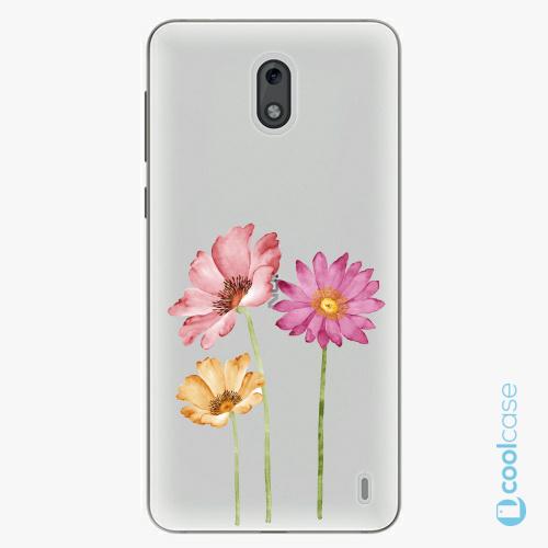 Plastové pouzdro iSaprio Fresh - Three Flowers na mobil Nokia 2