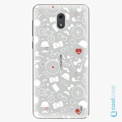 Plastové pouzdro iSaprio Fresh - Vintage Pattern 01 white na mobil Nokia 2