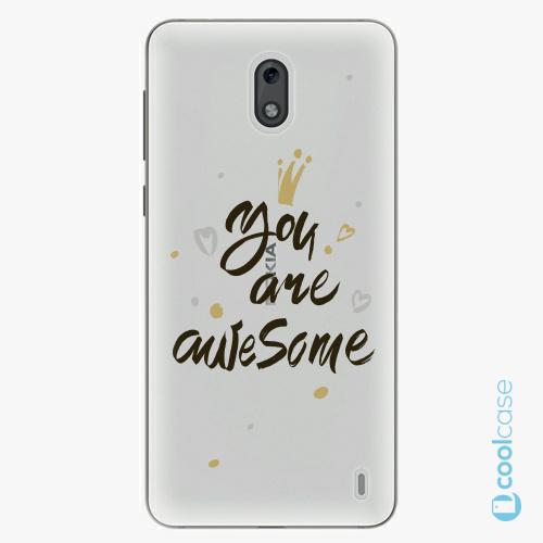 Plastové pouzdro iSaprio Fresh - You Are Awesome black na mobil Nokia 2