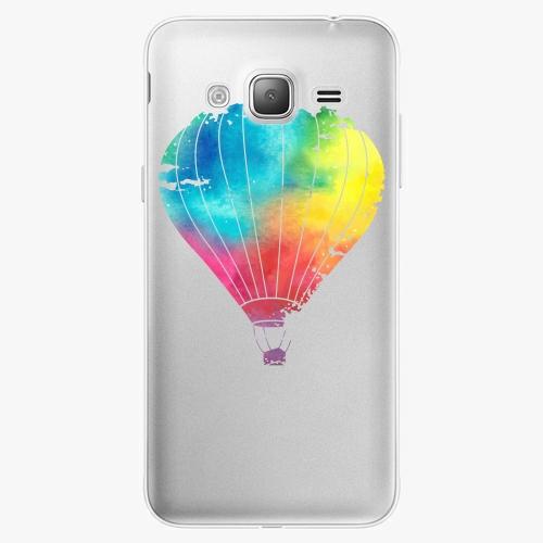 Silikonové pouzdro iSaprio - Flying Baloon 01 na mobil Samsung Galaxy J3 2016
