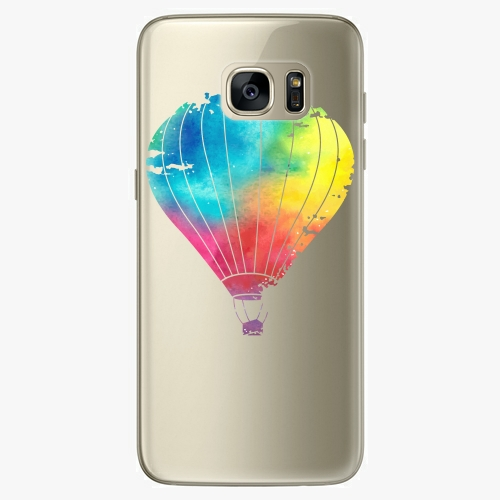 Silikonové pouzdro iSaprio - Flying Baloon 01 na mobil Samsung Galaxy S7 Edge