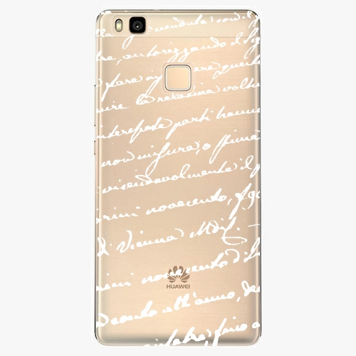 Silikonové pouzdro iSaprio - Handwiting 01 white na mobil Huawei P9 Lite