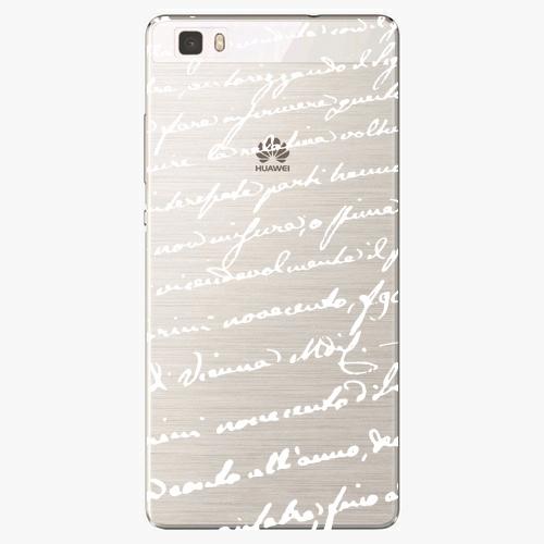 Silikonové pouzdro iSaprio - Handwiting 01 white na mobil Huawei P8 Lite