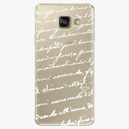 Silikonové pouzdro iSaprio - Handwiting 01 white na mobil Samsung Galaxy A5 2016