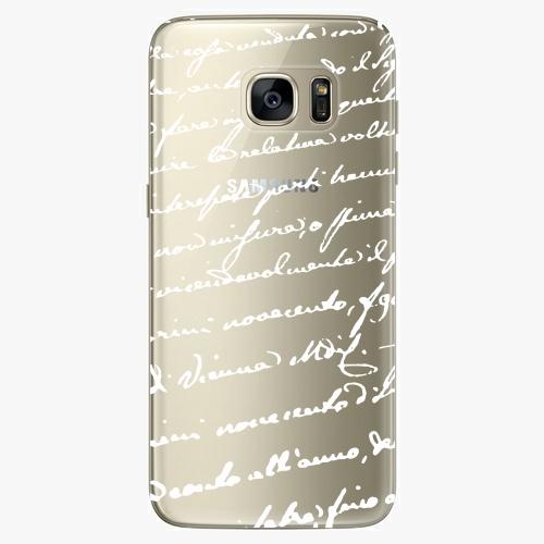 Silikonové pouzdro iSaprio - Handwiting 01 white na mobil Samsung Galaxy S7
