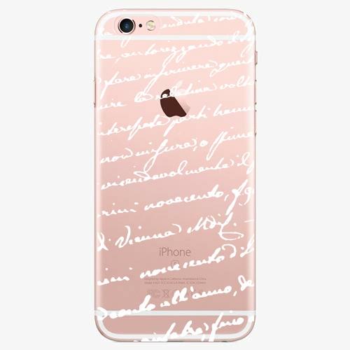 Silikonové pouzdro iSaprio - Handwiting 01 white na mobil Apple iPhone 7 Plus