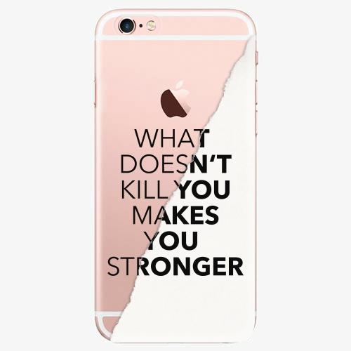 Silikonové pouzdro iSaprio - Makes You Stronger na mobil Apple iPhone 7