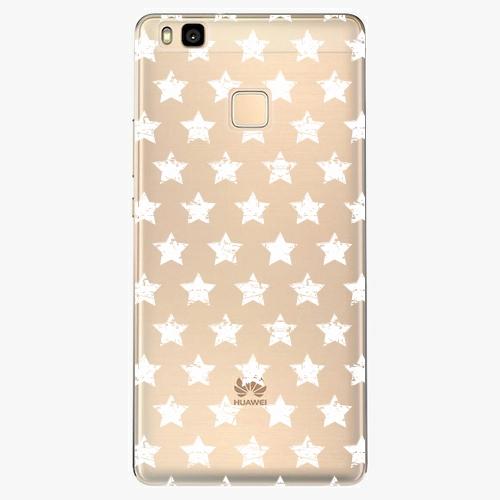 Silikonové pouzdro iSaprio - Stars Pattern white na mobil Huawei P9 Lite